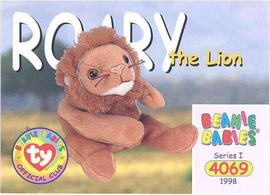 a762d930372 TY Beanie Babies BBOC Card - Series 1 Common - ROARY the Lion  BBToyStore. com - Toys