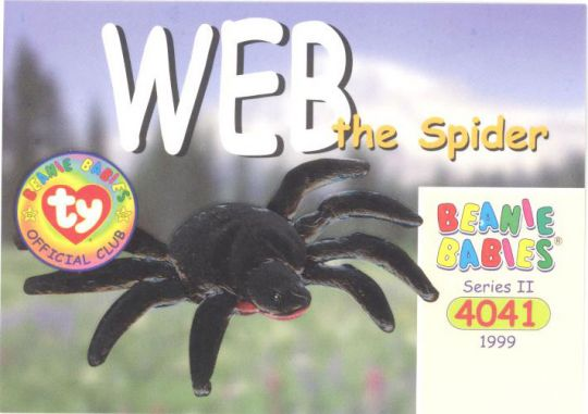 Ty Beanie Babies Bboc Card Series 2 Common Web The Spider