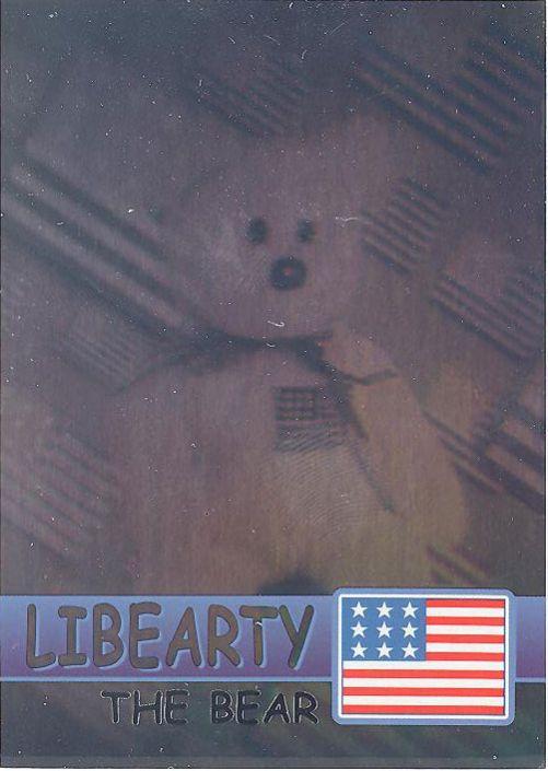 TY Beanie Babies BBOC Card - Series 2 Rare Bear (SILVER) - LIBEARTY the  Bear  BBToyStore.com - Toys fe5a6a281b4e