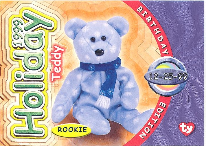 Series 2 Common TY Beanie Babies BBOC Card 1998 HOLIDAY TEDDY NM//Mint