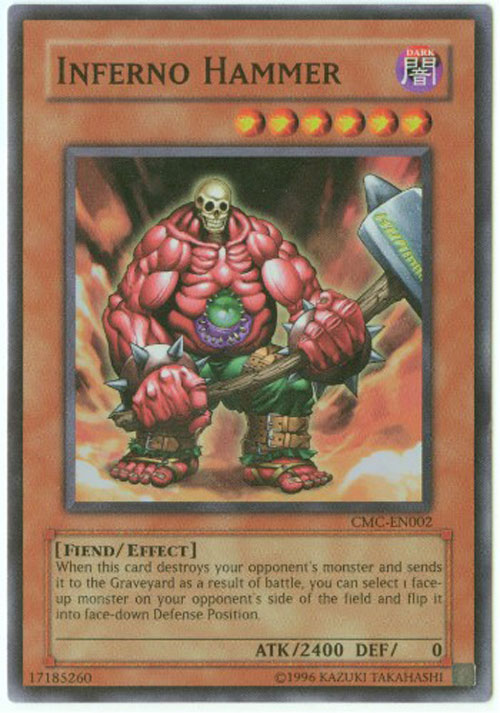 Yu Gi Oh Card CMC EN002 INFERNO HAMMER super rare