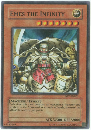 Yu Gi Oh Card DBT EN001 EMES THE INFINITY super rare