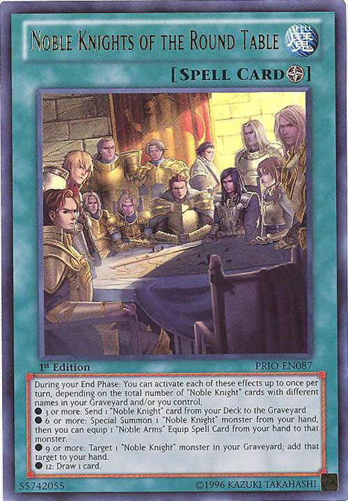 Mint Glory Of The Noble Knights Rare Near Mint Condition YUGIOH Card