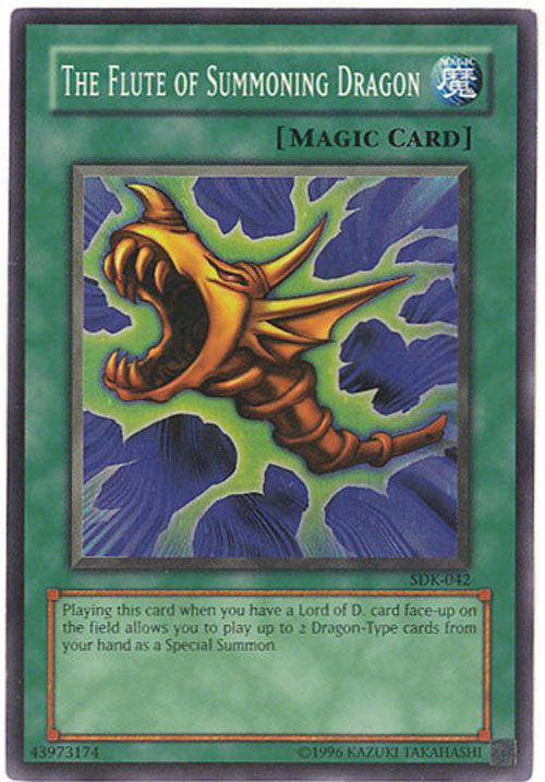 Yu Gi Oh Card SDK 042 THE FLUTE OF SUMMONING DRAGON