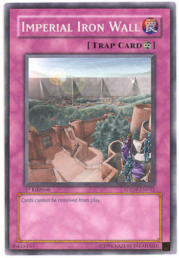 SDZW-EN032 Imperial Iron Wall 1st Edition Mint YuGiOh Card