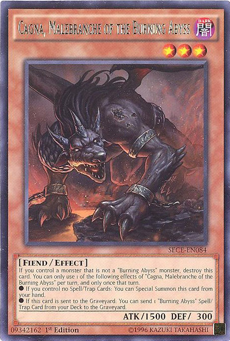 Yu Gi Oh Card SECE EN084 CAGNA MALEBRANCHE OF THE