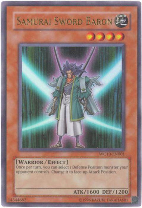 Yu-Gi-Oh Card - WC10-EN001 - SAMURAI SWORD BARON (ultra rare holo)