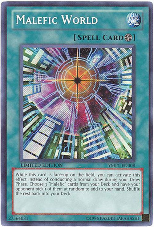 Yu Gi Oh Card YMP1 EN008 MALEFIC WORLD secret rare